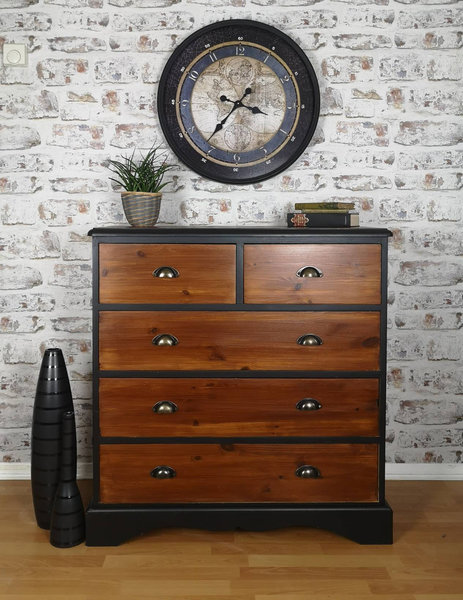 Industrial 2 Over 3 Chest Of Drawers