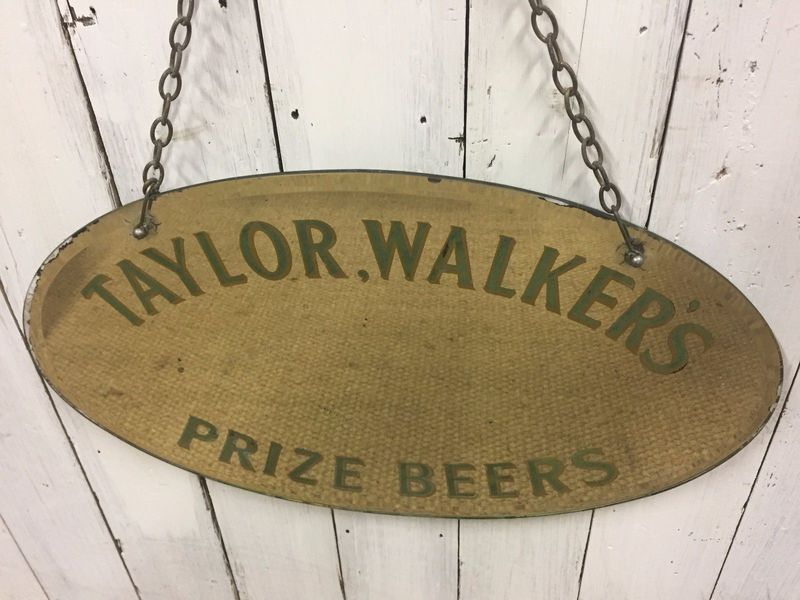 Taylor Walker Beer Mirror Pub Bar Sign Londons East End Ale Shop Display 30s Taylor Walker Vinterior