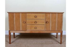 Vintage Gordon Russell Sideboard Credenza Walnut Moderne Art Deco photo
