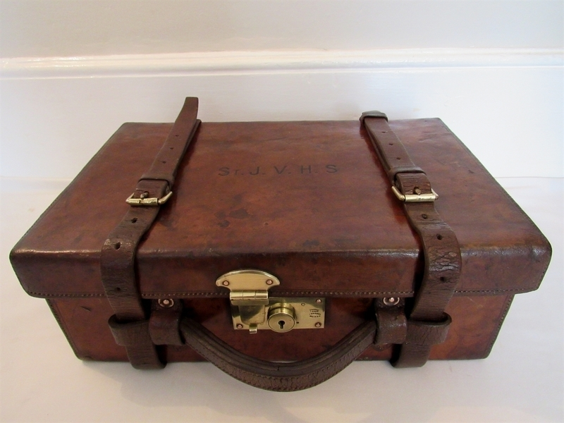 Vintage Leather Army And Navy Cartridge Case