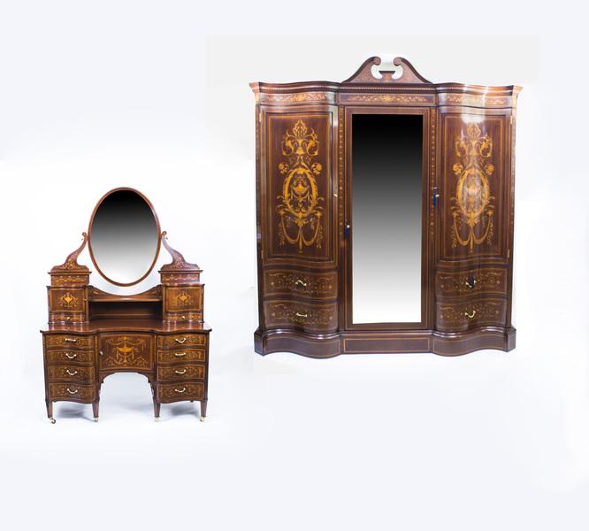 Antique Victorian Bedroom Suite By Edwards & Roberts C1880