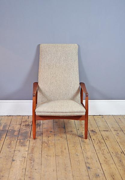 Alf Svensson For Dux Kontour High Back Armchair photo 1