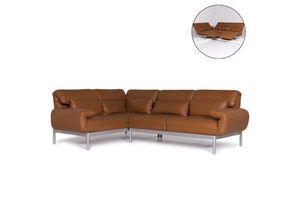 Thumb rolf benz plura leather sofa brown corner sofa incl function 10552 unknown 0