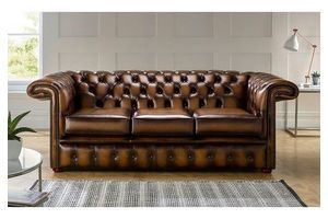Thumb chesterfield 1857 hockeystick leather sofa 3 seater antique tan 0