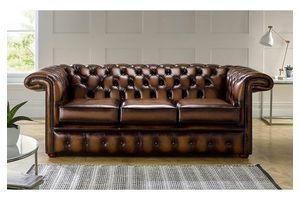 Thumb chesterfield 1857 hockeystick leather sofa 3 seater antique autumn tan 0