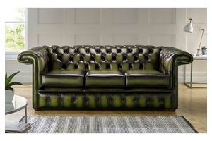 Thumb chesterfield 1857 hockeystick leather sofa 3 seater antique olive 0