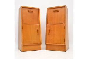 Thumb 1950 s pair of vintage oak bedside cabinets by g plan 0