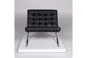 Thumb knoll international barcelona chair vintage designer leather armchair black 10366 unkwnown 0