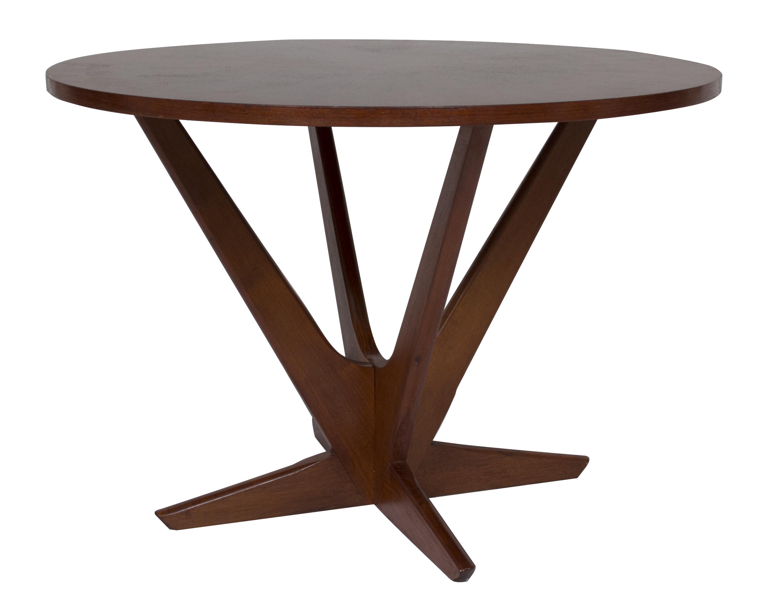 1960s Søren Georg Jensen Starburst Teak Coffee/Side Table ...