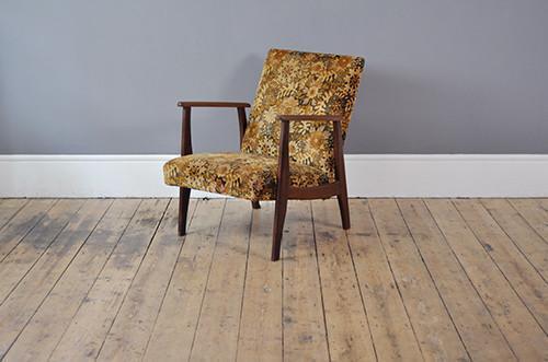 Dutch Low Back Floral Armchair photo 1