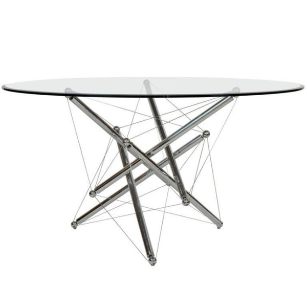 Theodore Waddell Chrome Dining Table Cassina