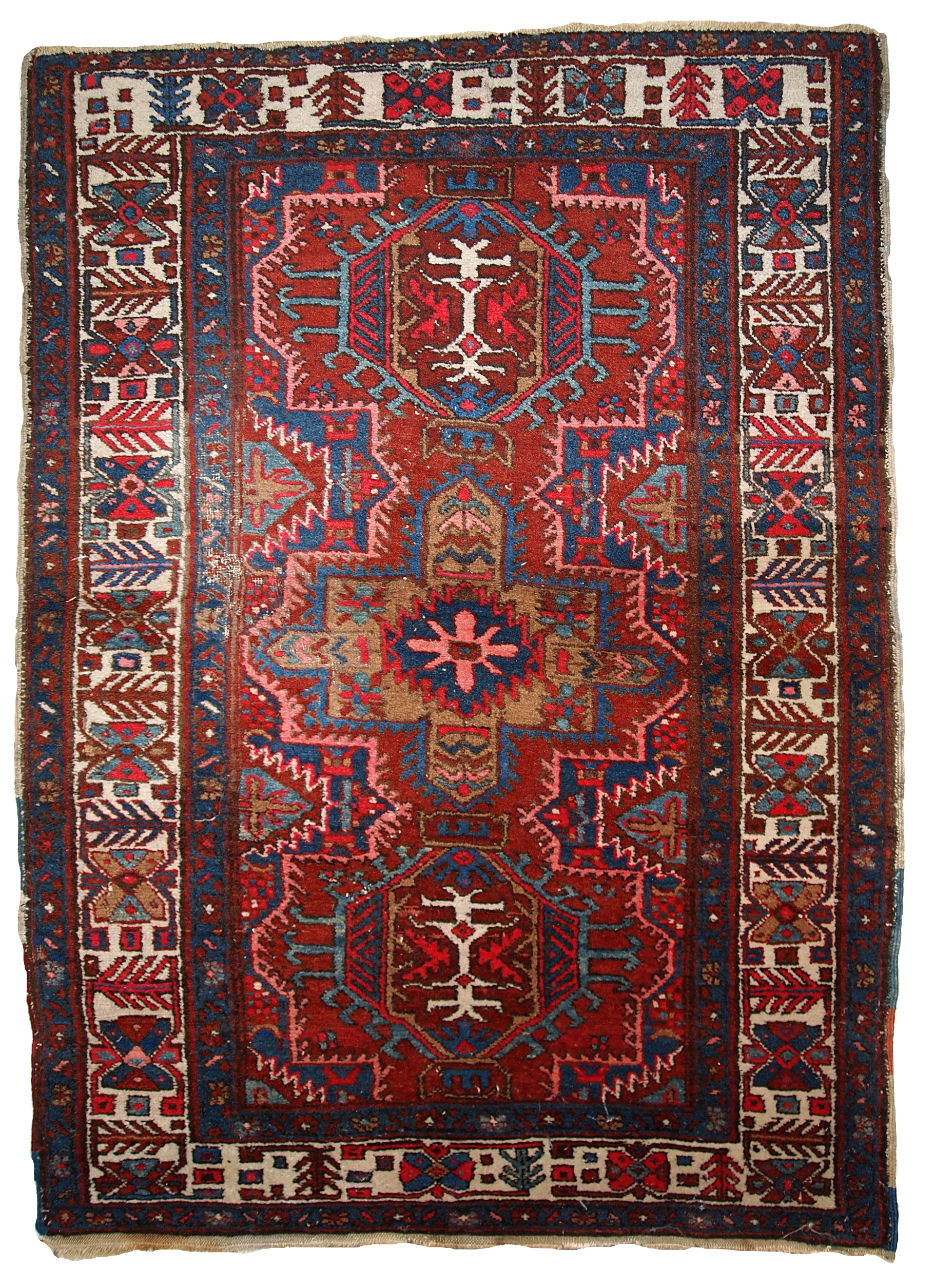 Handmade Antique Persian Heriz Rug 3 2