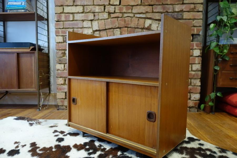 Retro Vintage Mid Century Cocktail Record Cabinet Storage Unit 1960s/70s