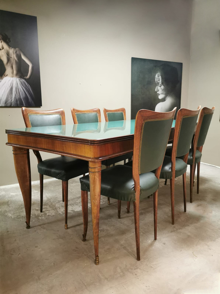 Vintage Italian Design Dining Set Dining Room Set Table Dining Room Chair Paolo Buffa