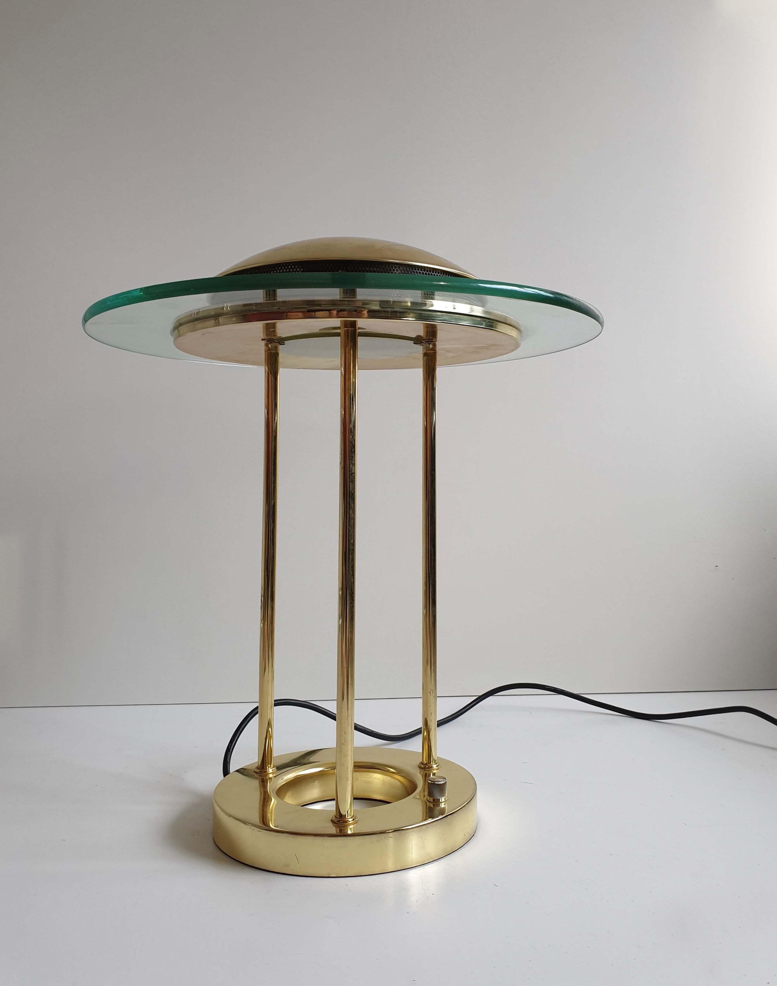 Vintage Brass 'Saturn' Desk Lamp By R. Sonneman For George Kovacs, C.1980