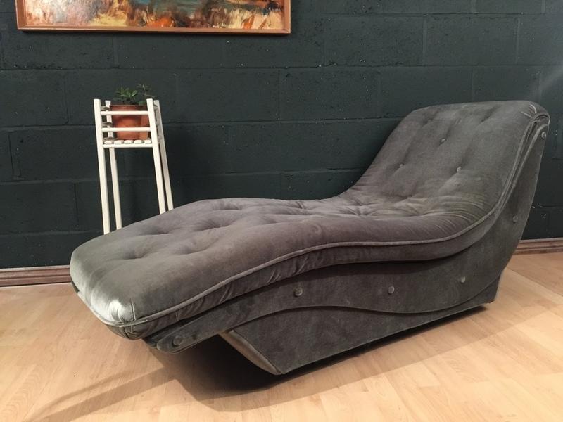 Retro Vintage Mid Century Chaise Longue Sofa Chair 1960s 1970s