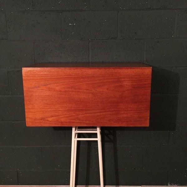 Retro Vintage Mid Century Beaver And Tapley Teak Suspended Record Cabinet