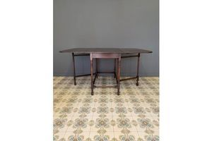 Thumb antique oak folding dining table 0