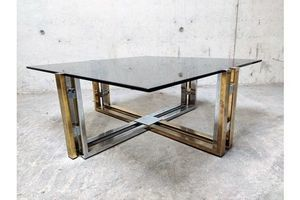 Thumb vintage brass and chrome coffee table 1970s 1970s 0