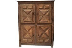 Thumb rustic french bleached oak cupboard 18th century large four door cupboard 0