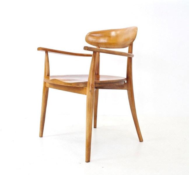 Vintage Solid Elm Carver Chair