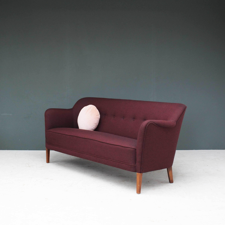 Refurbished Danish Early Midcentury Two 1/2 Seater Sofa | Vinterior
