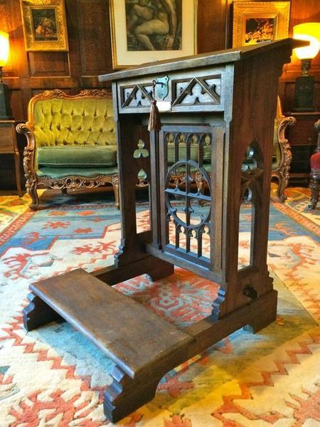Stunning Antique Solid Oak Bible Stand Lectern Gothic Victorian 19th Century