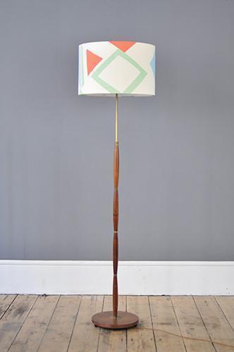 Decorative Danish Rosewood Floor Lamp