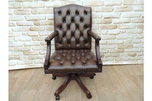 Thumb antique brown gainsborough chair 0