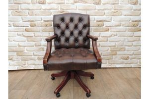 Thumb brown medium back captains chair 0
