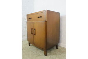 Thumb vintage g plan small oak bureau secretaire with writing desk cupboard drawers 0
