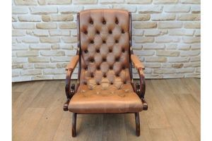 Thumb luxury tan leather slipper armchair 0