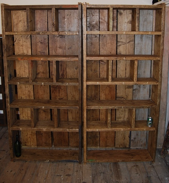 Industrial Pigeon Holes Bookcase