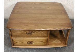 Thumb ercol solid elm windsor pandora box coffee table golden dawn 0