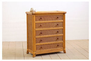 Thumb vintage mid century rattan woven cane wicker chest of drawers tallboy 0