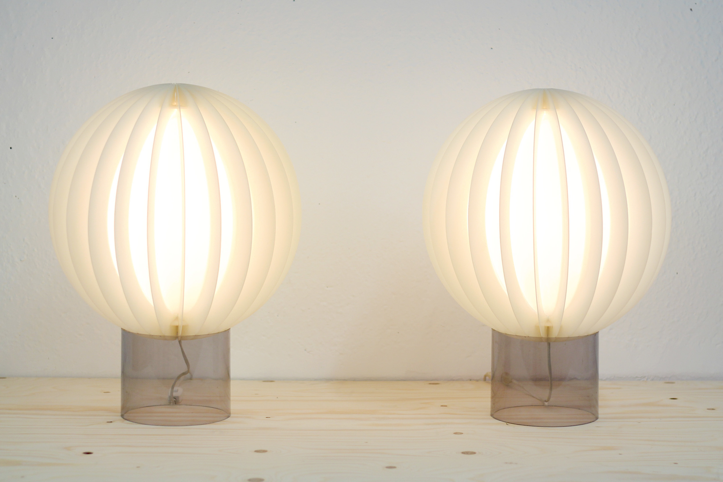 Vintage Mid Century Swedish 1970s Pair Of Cirkel Table Lamps By Ikea Bent Gantzel Boysen Ikea Vinterior