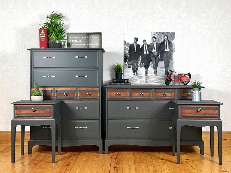 Drawers Wide Chest Bedside Tables
