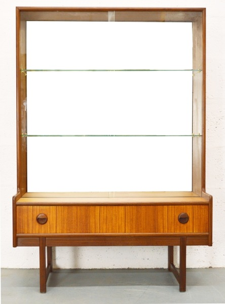 Mid Century Glass Display Cabinet/Bookcase By Turnidge