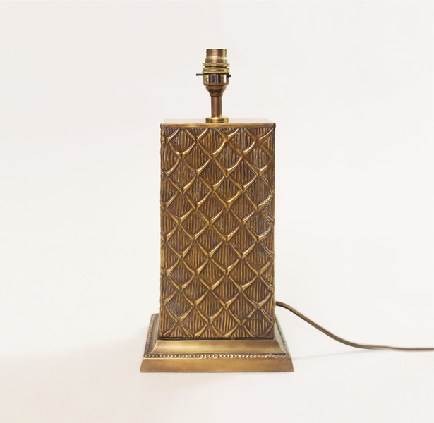 Brass Tropical Bamboo Table Lamp