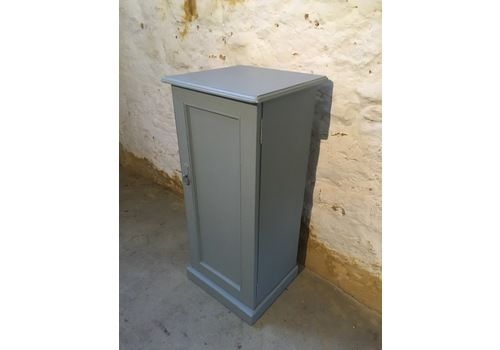 Tall, Narrow Painted Victorian Bedside Pot Cupboard