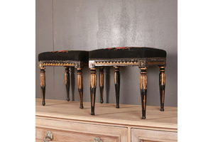 Thumb new stock pair of swedish gustavian stools 0