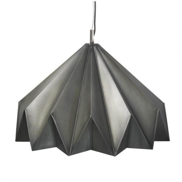 Grey Origami Pendant