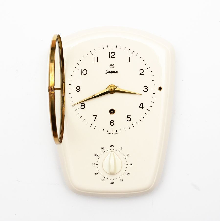 Magnificent Kitchen Clock Junghans 50 60S Home Interior And Landscaping Synyenasavecom