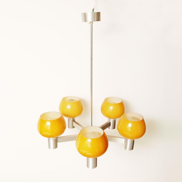 Five Branch Orange Pendant Light photo 1
