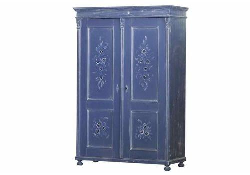 Antique Double Armoire, Blue