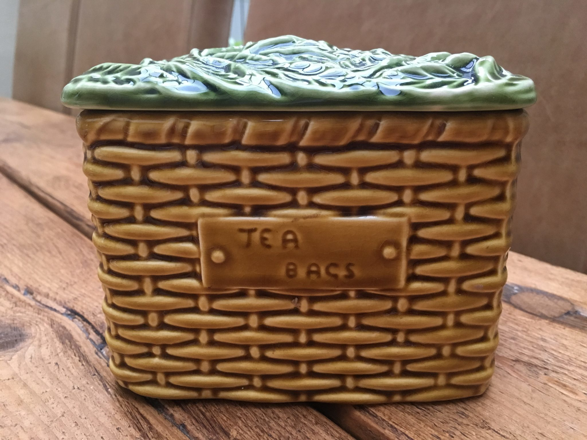 Highly Collectable Sylvac Vintage Ceramic Tea Caddy