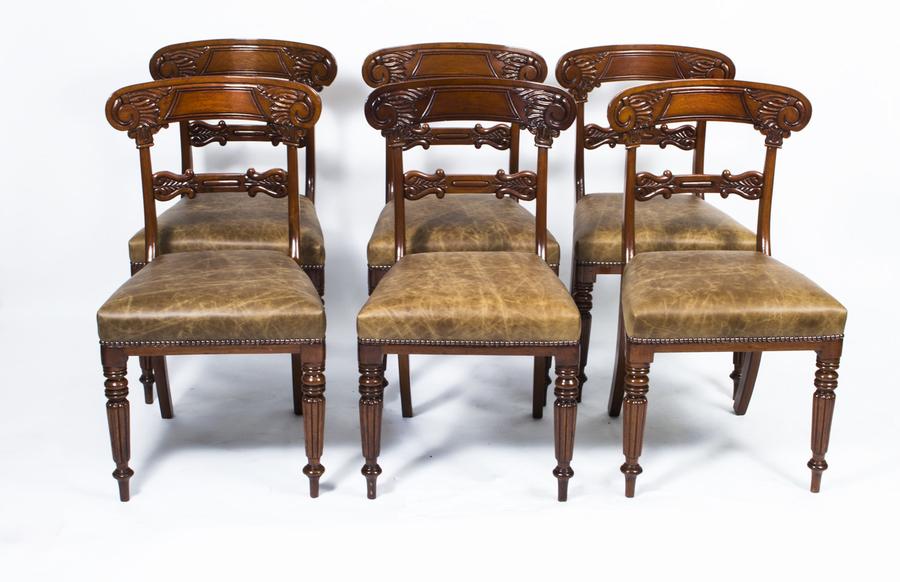 Set 6 Regency Mahogany Dining Chairs