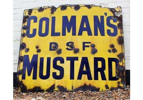 Colmans Mustard Enamel Sign Advertising