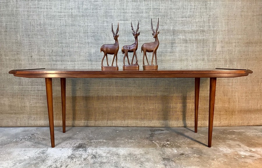 Mid Century Modern Retro Vintage 1960's Teak Handmade Coffee Table Scandi Danish British