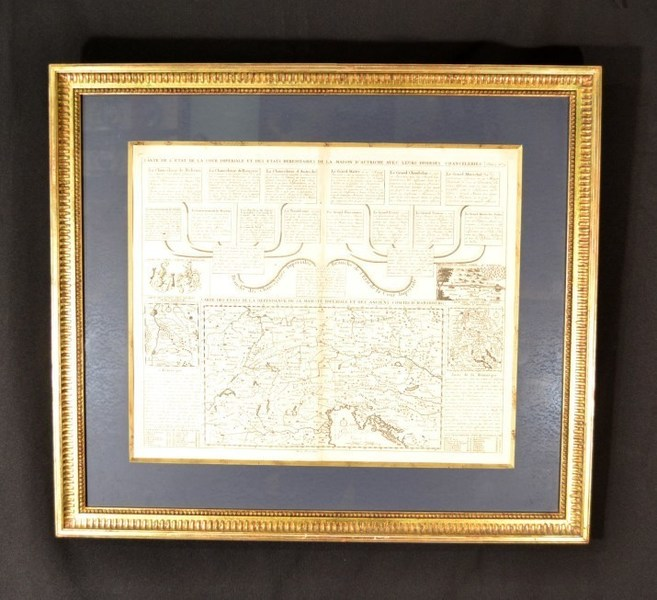 Map Imperial Court Of Austria Habsburgs